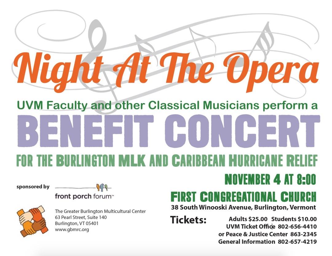 GBMRC Hurricane Benefit Concert